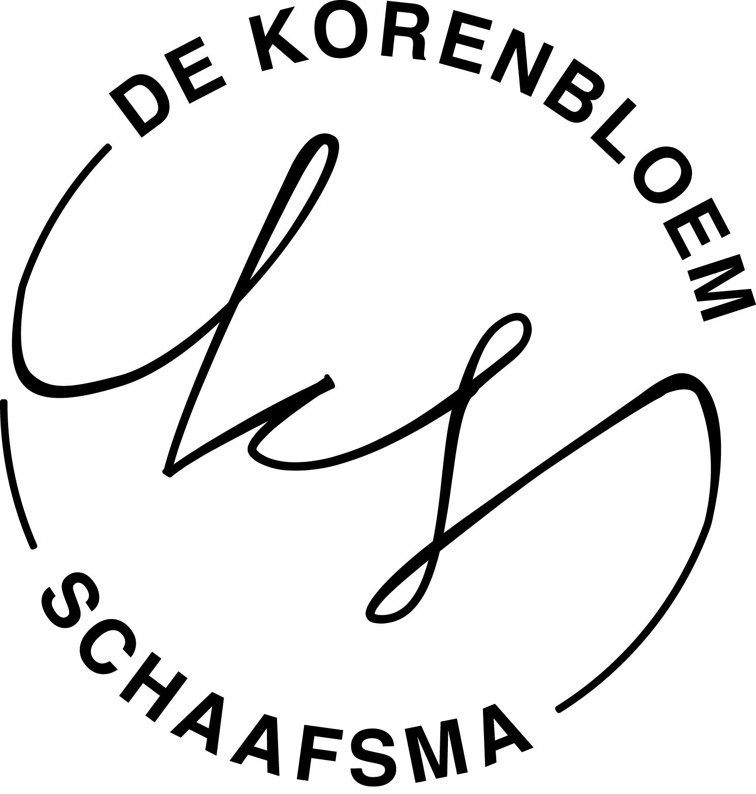 De Korenbloem-Schaafsma Rond - zwart